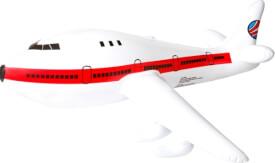 Splash & Fun Aufblasbares Flugzeug, 25 x 48 x 17 cm