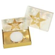 Depesche 10258 Weihnachtsteelicht in kleiner Box Glamour